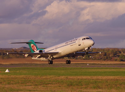VH-NHQ take off 21 Geraldton Airport WA 15th of March 2015