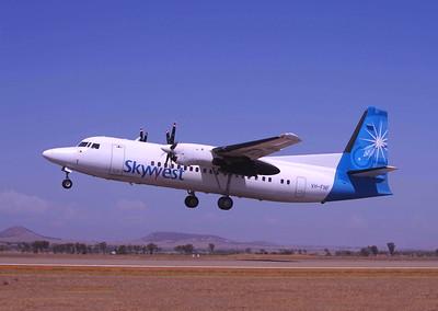VH-FNF - Last VA/XR F50 revenue flight departing Geraldton.
