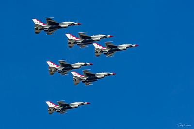 Delta Formation - USAF Thunderbird F-16's