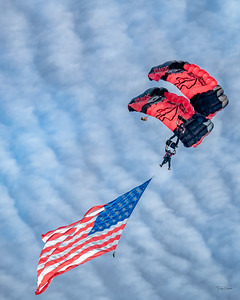 """US Army SOCOM Black Daggers Parachute Team"""