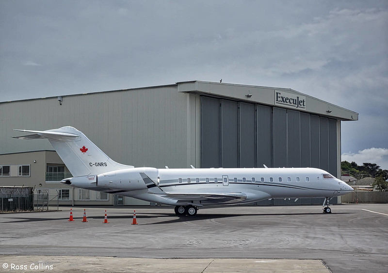 Bombardier BD-700-1A10 Global Express at WLG on 21 October 2017
