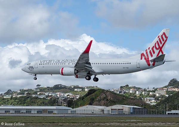 Virgin Australia YH-YIW at WLG ex BNE as VA100 on 23 October 2017