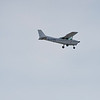 A Cessna skyhawk owned by the THE MORAY FLYING CLUB (1990) RAF LOSSIEMOUTH,makes an approach into the base