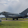 Perfect side on view of 11 Sqn's FGR 4 ZK 428 as it passes the viewing area on its way back to dispersal