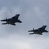 An added bonus was these 2 USAF F15 E's who did a slow fly pasted straight down the main runway
