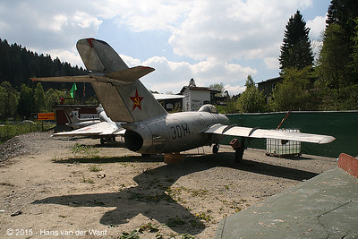 MiG 15 with (incorrect) russian markings.