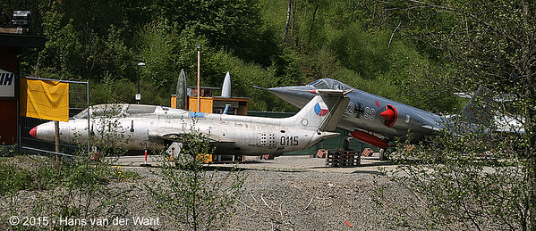 Aero L-29 Delphin and Lockheed F-104G Starfigter.