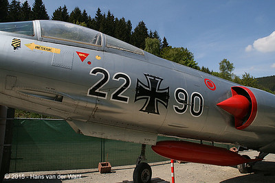 Lockheed F-104G Starfighter of the german airforce, although on the wings were dutch markings.