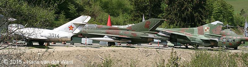 Three MiG's om a row: MiG 15, MiG 21 and MiG 23.