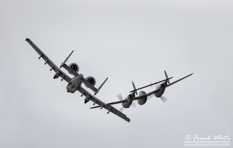 Heritage Flight: P-38 Lightning and A-10 Warthog