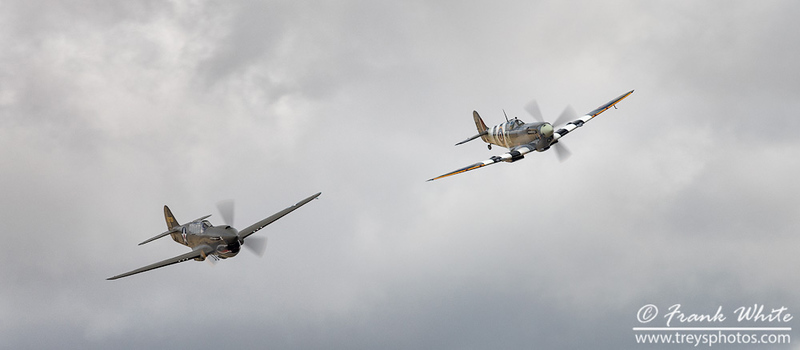 P-40 Warhawk and Mark IX Spitfire