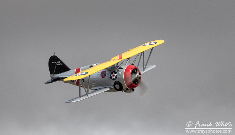 Grumman F3F WWII biplane fighter