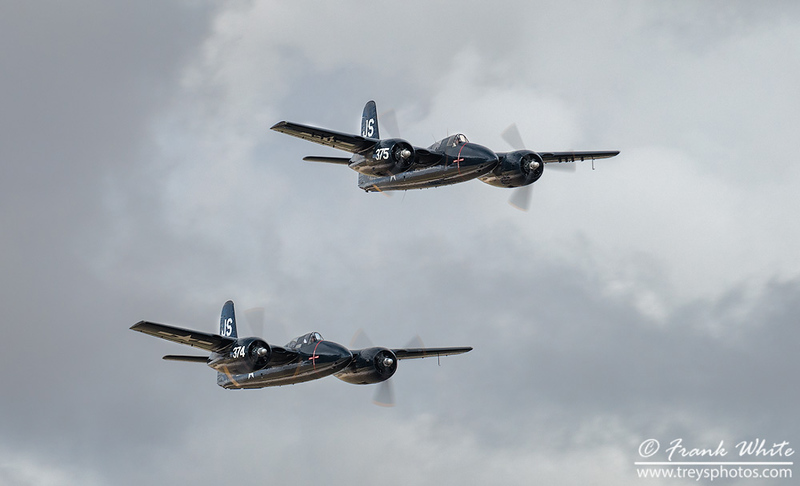 Grumman F7F Tigercat - 2 of only  3 still flying