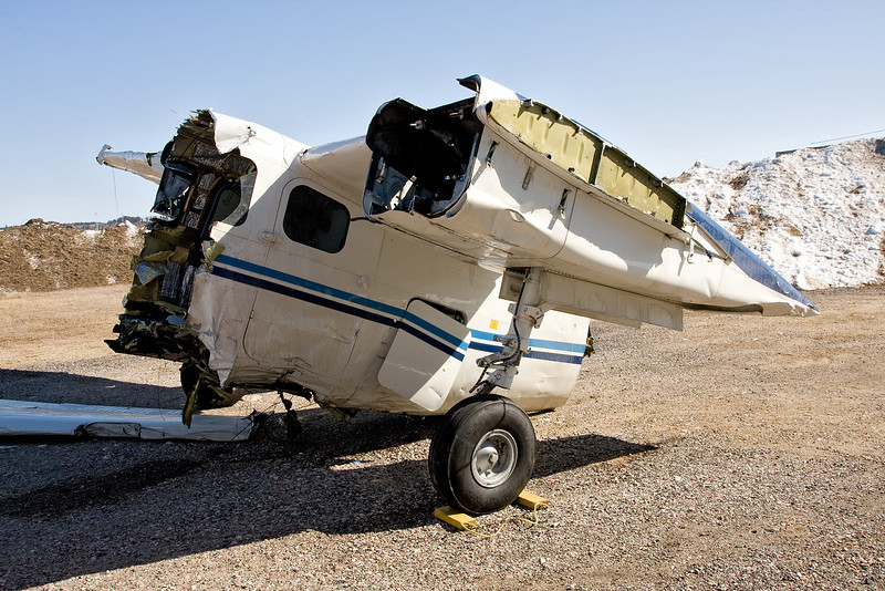 Not much left of this Aero Commander 500B. From my understanding, her fuel lines froze up and she came down.