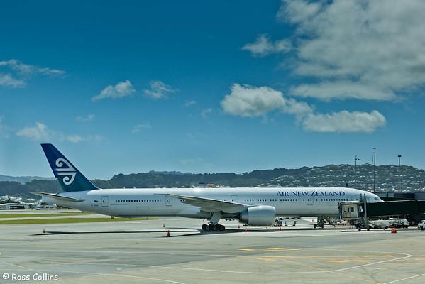 Air New Zealand's First Boeing 777-300, ZK-OKM, Wellington International Airport, 9 February 2011