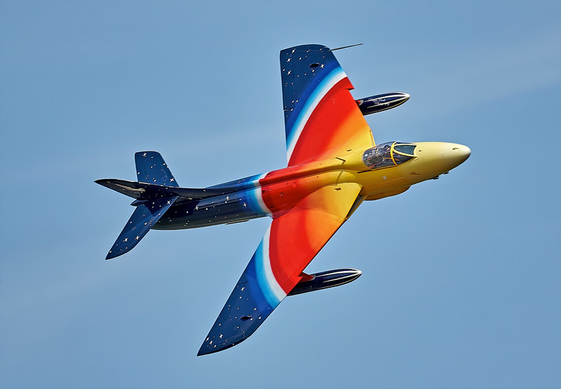 Hawker Hunter 'Miss Demeanour' at Airshow at East Fortune - 25 July 2009