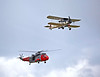 Fairey Swordfish II LS326 and Sea King Flypast at East Fortune - 28 July 2012