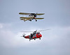 Fairey Swordfish II LS326 and Sea King - East Fortune - 28 July 2012