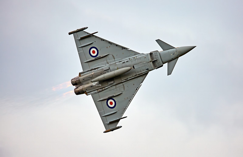 RAF Eurofighter Typhoon (ZK349) at East Fortune - 25 July 2015