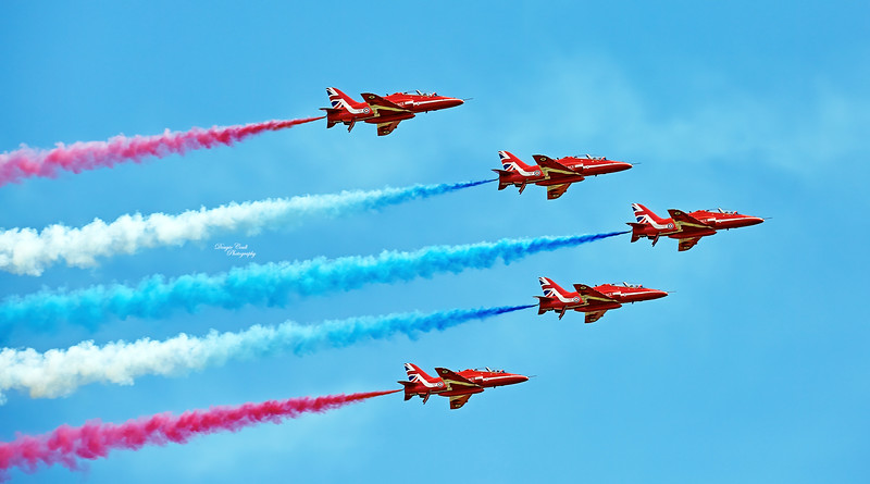 Red Arrows at East Fortune - 25 July 2015