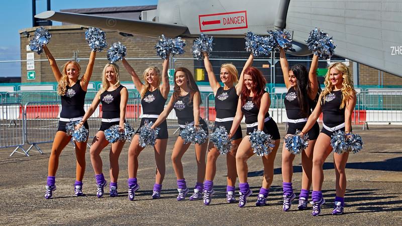 Cheerleaders at Scottish Airshow - 7 September 2014