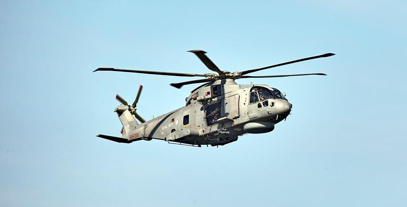 Royal Navy (ZH824) Merlin HM.1 at Prestwick Airshow - 5 September 2015