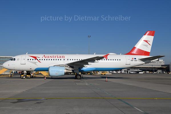 2017-12-25 OE-LBJ Airbus A320 Austrian Airlines