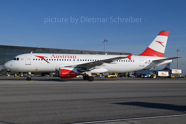 2017-12-25 OE-LXA Airbus A320 Austrian Airlines