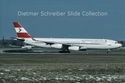 OE-LAH Airbus A340-212 (c/n 81) Austrian Airlines