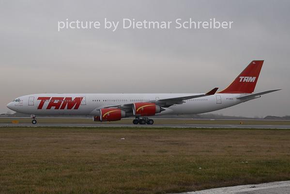 2008-12-05 PT-MSL Airbus A340-500 TAM Brazil