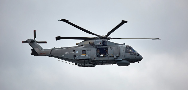 Merlin Mk2 (ZH840) helicopter from 820 Naval Air Squadron at Rosyth - 26 June 2017