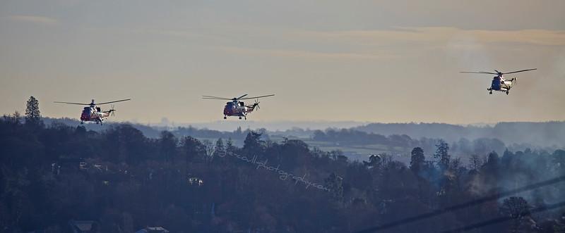 HMS Gannet farewell flight at Faslane - 14 January 2016
