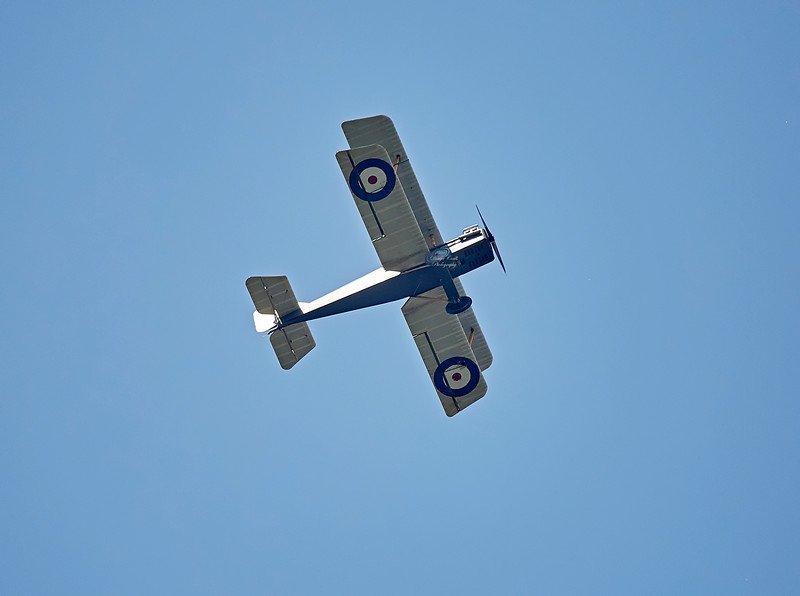 SE5A Replica (G-BKER) (F5447) over Langbank - 9 June 2018