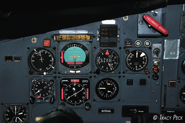 Cockpit panel from an old ExpressJet, which has since retired to Kingman, AZ.