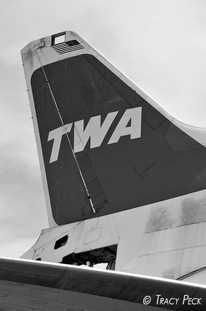 Tail view of the TWA L-1011.
