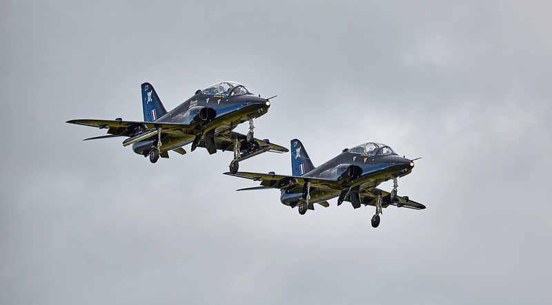 100 Sqn Hawks Flypast at Glasgow Airport 50th Anniversary - 8 July 2016