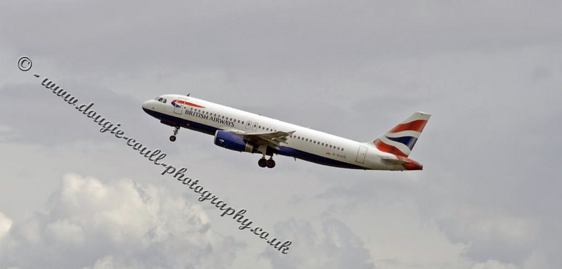 BA Taking Off From Glasgow Airport
