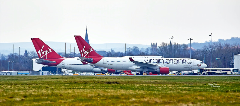 G-VMIK and G-VXLG at Glasgow Airport - 23 March 2020