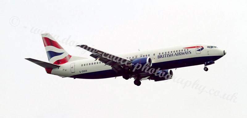 British Airways Boeing 737-400 G-DOCS