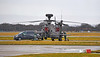 Apache Helicopter (ZJ198) at Glasgow Airport - 12 March 2021