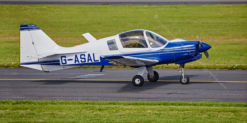 Scottish Aviation Bulldog 124 (G-ASAL) at Prestwick Airport - 6 August 2015