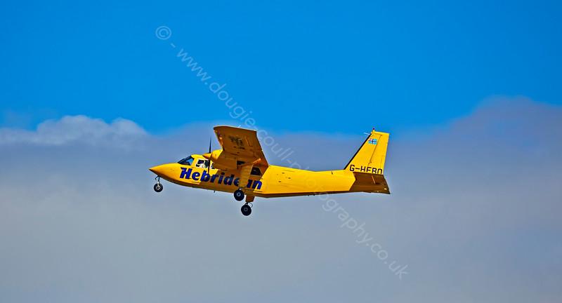 'Britten-Norman,BN-2B-26 Islander' departs Prestwick Airport - 7 September 2014