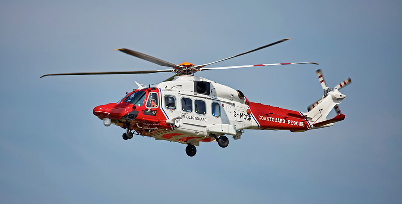 Coastguard Agusta-Westland AW-189 (G-MCGR) at Prestwick Airport - 10 June 2018