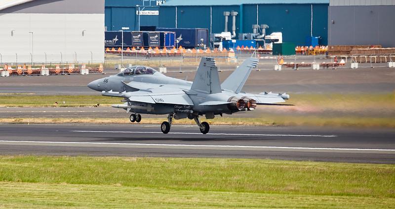 US Navy (EA-18G) F-18  Growler (NJ-516) at Prestwick Airport - 11 June 2018