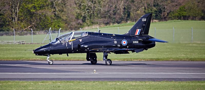 British Aerospace Hawk T.1A (XX159) at Prestwick Airport - 27 April 2018
