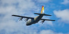 Lockheed Hercules C-130J (ZH880) departing Prestwick Airport - 7 July 2016