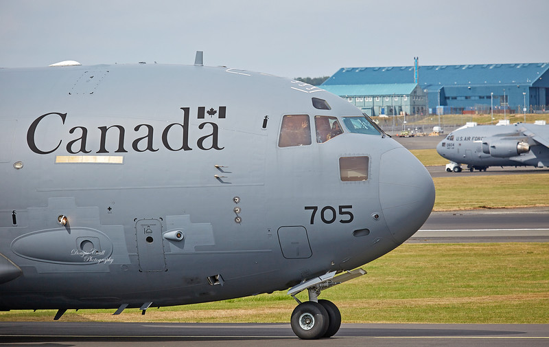 Canadian Royal Air Force Boeing CC-177 Globemaster III (177705) at Prestwick Airport - 12 July 2018