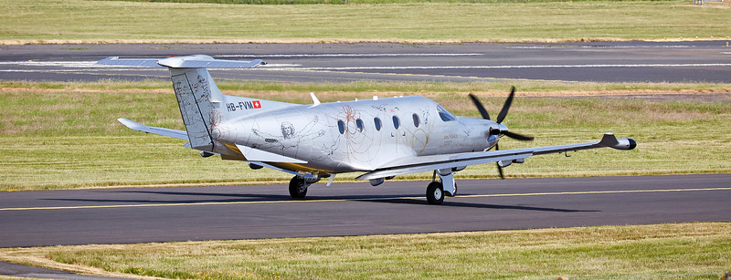 Pilatus PC-12/47E (HB-FVM) at Prestwick Airport - 10 June 2018