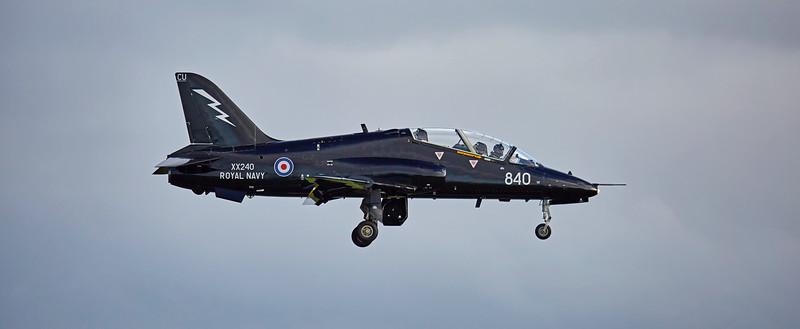 RAF British Aerospace Hawk T.1 (XX240) at Prestwick Airport - 11 October 2016