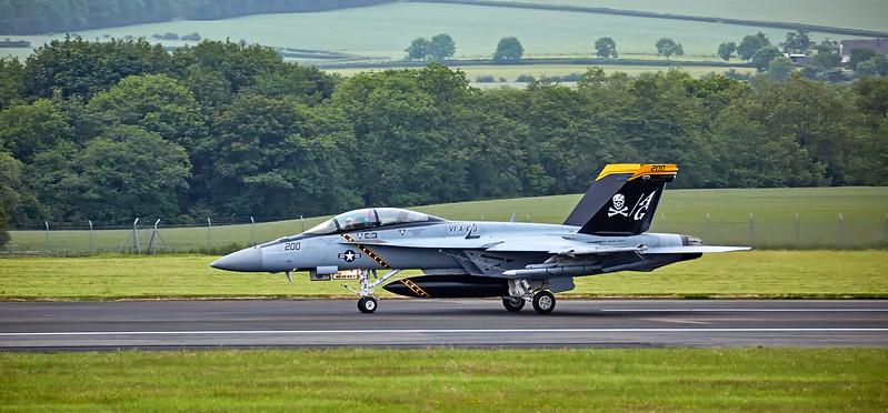 F/A-18F Super Hornet (AG-200) at Prestwick Airport - 16 June 2017